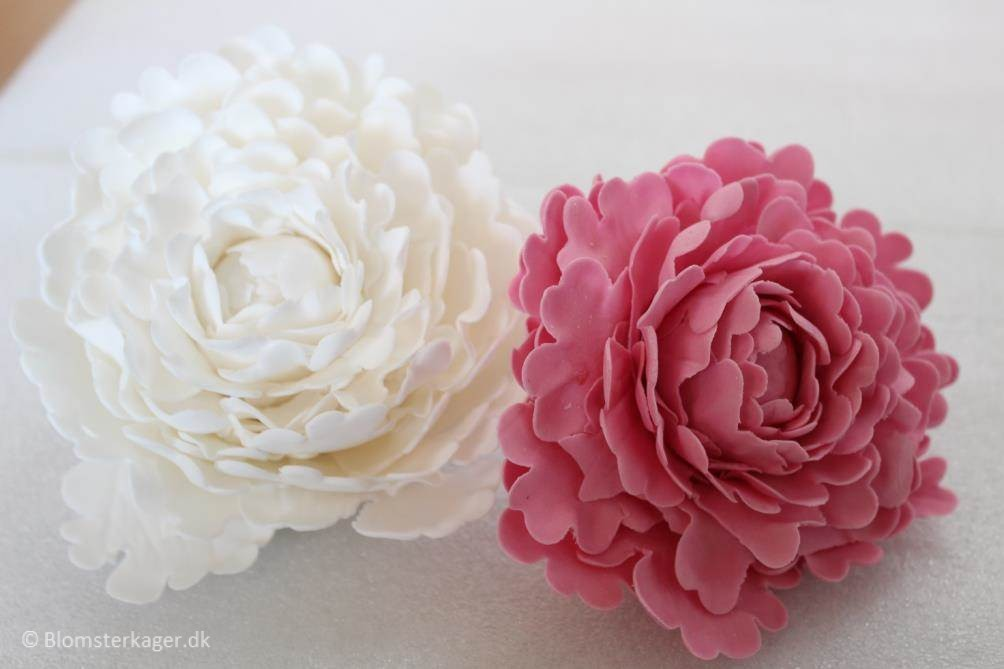 Cake With Fondant Peony : How to make a peony from fondant / gumpaste