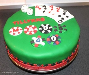 Casino kage til 40 års fødselsdag