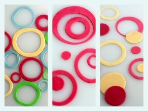 Sådan dekorerer du med cirkler til en barnedåbskage