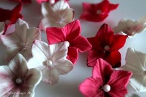 Sådan laver du en lille petunia i fondant / gum paste