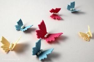 Sådan laver du sommerfugle i fondant / gum paste til en barnedåbskage eller bryllupskage