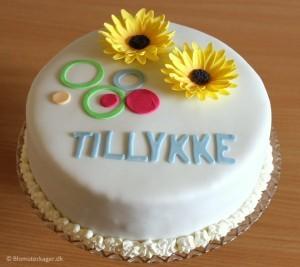 Fødselsdagskage med solsikker