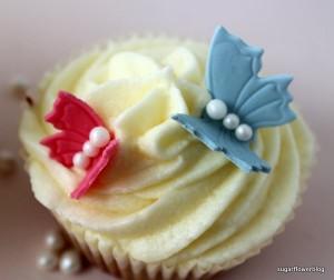 Cupcakes med sommerfugle