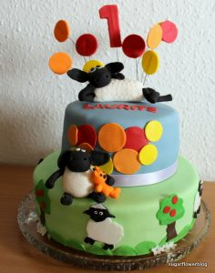 F for Får – kage til 1 års fødelsdag