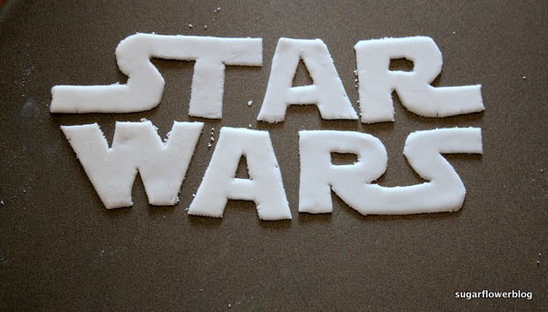 Star wars logo fondant